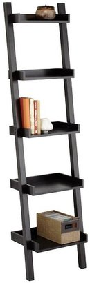 Container Store Narrow Linea Leaning Bookcase Java