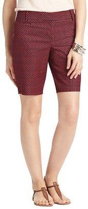 "LOFT Julie Mini Jewel Print Stretch Cotton Walking Shorts with 10"" Inseam"