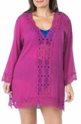 La Blanca Plus V-Neck Cover-Up Tunic