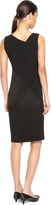 DKNY Asymmetrical V-Neck Dress