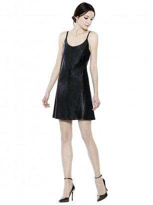 Alice + Olivia Leather Slip Dress