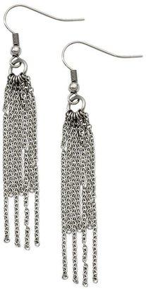 Steel By Design Stainless Steel Long Multi-Strand Dangle Earrings