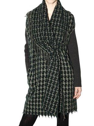 Appartamento 50 Jacquard Houndstooth Knit Coat