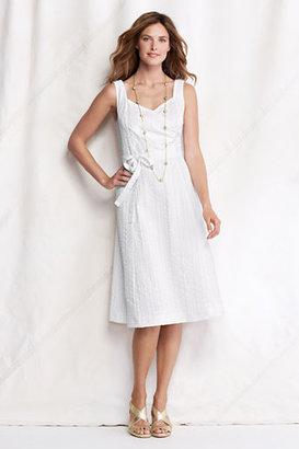 Lands' End Women's Petite Seersucker Surplice Dress