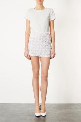 Topshop Tall Checkerboard Pelmet Skirt