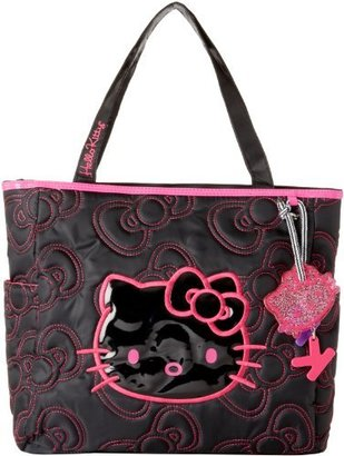 Hello Kitty FAB Starpoint Girls 7-16 Quilted Bows Tote Black