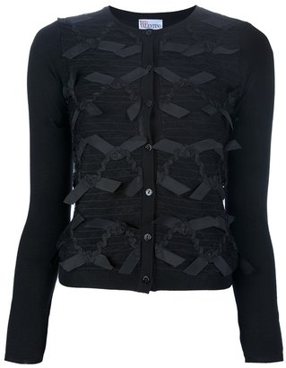 RED Valentino BOW PANEL CARDIGAN