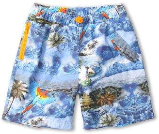 Stella McCartney Taylor Boys Tropical Print Swimshort (Toddler/Little Kids/Big Kids) (Multi) - Apparel