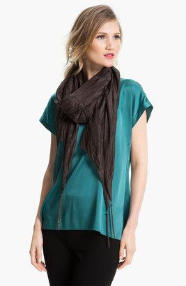 Eileen Fisher 'Whisper Silk' Crinkled Scarf