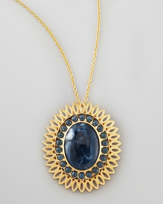 Lisa Stewart Lapis-Colored Pendant Necklace