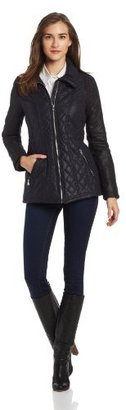 Jessica Simpson Women's Two Tone Quilted Puffer Jacket