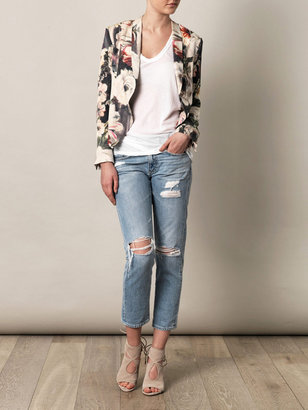 Haute Hippie Floral silk jacket