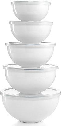 Martha Stewart Collection Enamel on Steel 10 Piece Mixing Bowl Set