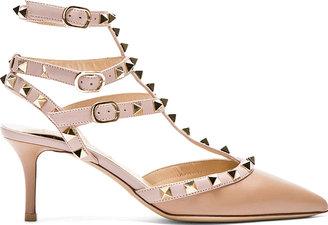 Valentino Rose Rockstud Strapped Heels