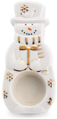 Mikasa Holiday Splendor Snowman Tea Light Holder