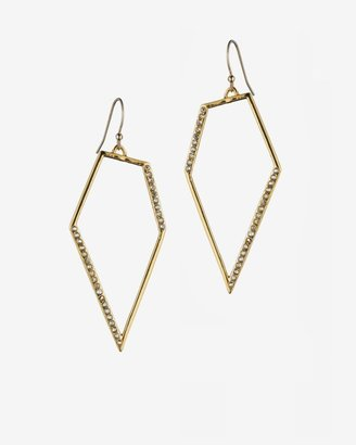 Alexis Bittar New Wave Gold Pave Kite Earrings