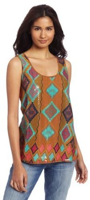 Wrangler Women's Western Fashion Knit Sleeveless Shirt