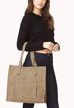 Forever 21 Sleek Faux Suede Tote