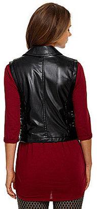 Vince Camuto Faux-Leather Moto Vest