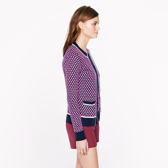 J.Crew Collection featherweight cashmere cardigan in diamond dot