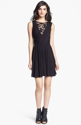 Bailey 44 B44 Dressed by Lace Inset Jersey Fit & Flare Dress