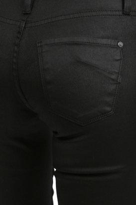 James Jeans Twiggy Faux Front Pocket in Black Jeather