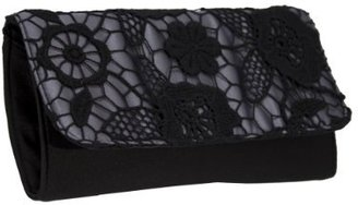 Magid Lace Overlay Clutch