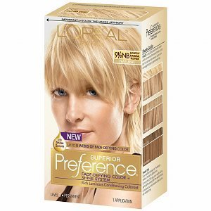 L'Oreal Preference Fade Defying Color & Shine System, Permanent, Lightest Natural Blonde 9.5NB