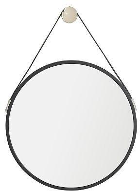 Williams-Sonoma Jensen Black Leather Mirror