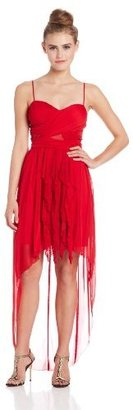 My Michelle Juniors Bodice High/Low Car-Wash Hem Dress
