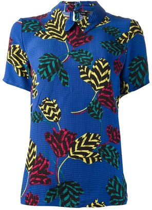Marc by Marc Jacobs printed short sleeve blouse