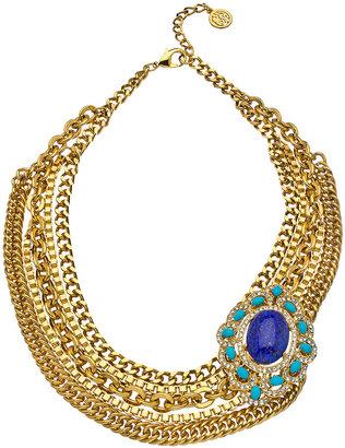 Ben-Amun Blue Floral Multi Link Necklace