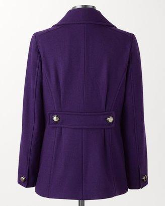Coldwater Creek Brilliant pea coat