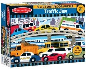 Melissa & Doug Kids Toy, Traffic Jam 24-Piece Floor Puzzle
