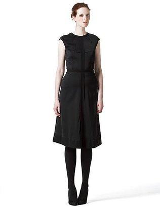 Proenza Schouler Crepe Contrast-Trimmed Dress