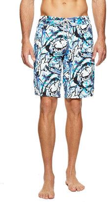 Vilebrequin Ocean Splatter Turtle Print Boardshorts