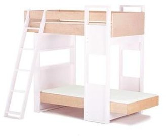 Argington Uffizi Bunk Bed- White Support with Birch Beds