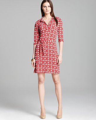 Laundry by Shelli Segal Shirt Dress - Chainlink Matte Jersey