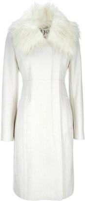 Wallis 1923 White Fur Collar Coat