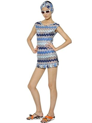 Missoni Lurex Zig Zag Viscose Knit Cover Up