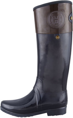 Hunter Sandhurst Carlyle Riding Boot, Navy/Chocolate