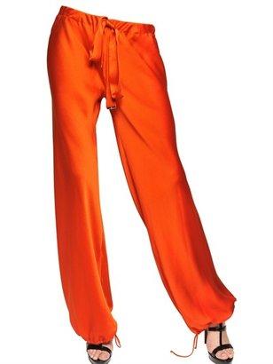 Roberto Cavalli Textured Silk Trousers