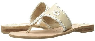 Jack Rogers Jacks Flat Sandal (Bone/White) Women's Sandals