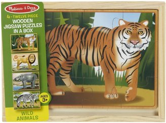Melissa & Doug Deluxe Zoo in a Box Jigsaw Puzzles 4-Pk (12 pc)