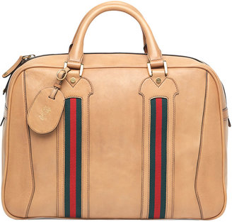 Gucci Leather Suitcase with Web