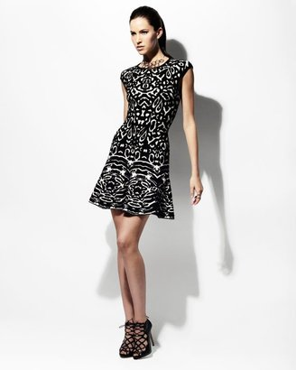 Torn By Ronny Kobo Exclusive Animal Print Knit Flare Dress