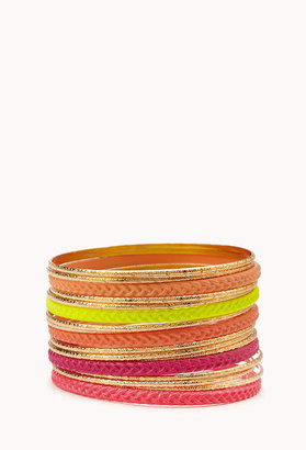 Forever 21 High Wattage Bangle Set