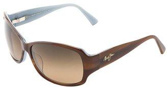 Maui Jim Nalani (Tortoise w/ White and Blue/HCL Bronze) Polarized Sport Sunglasses