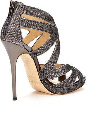 Jimmy Choo Collar Glitter Platform Pump