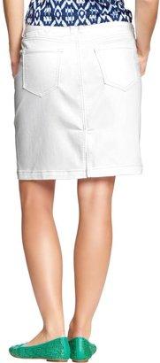 Old Navy Women's White Denim Pencil Skirts